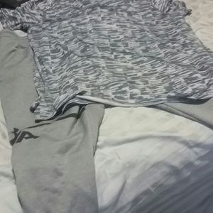 XL Russell shirt with XL Under Armour jogging pant